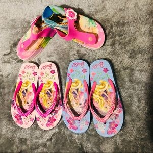 Other - 3 pairs of girls flip flops size 12 and 10